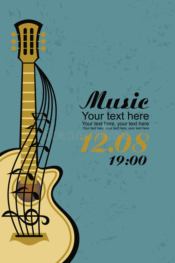 Chitarra acustica royalty illustrazione gratis