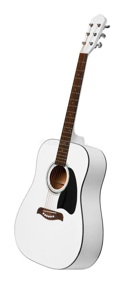Chitarra acustica bianca immagine stock