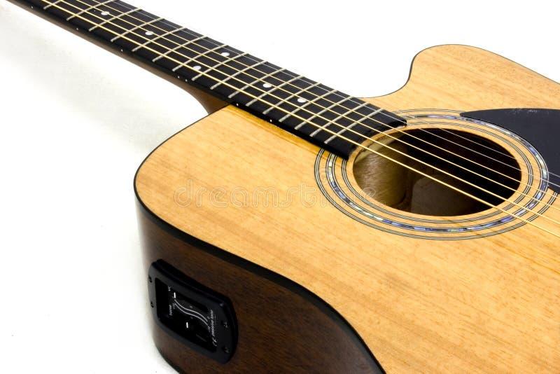 Chitarra acustica/elettrica immagine stock libera da diritti