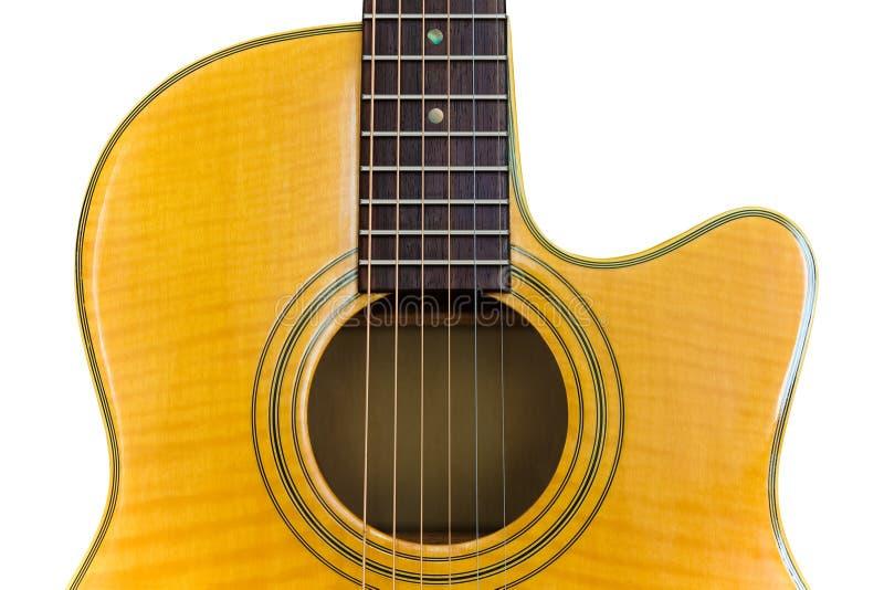Chitarra acustica gialla fotografie stock libere da diritti