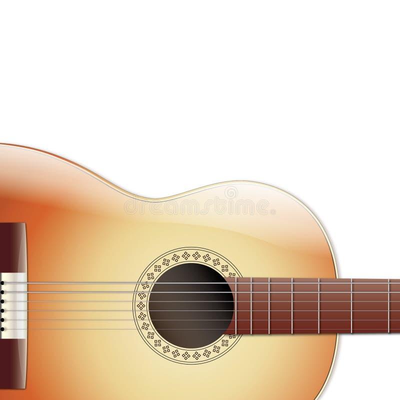 Chitarra acustica isolata su fondo bianco fotografie stock libere da diritti