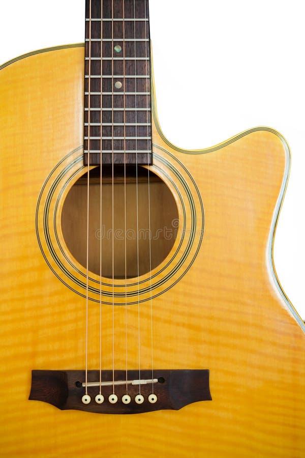 Chitarra acustica/isolato fotografia stock