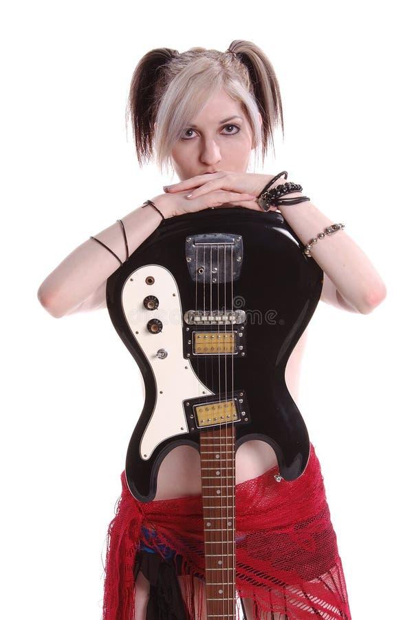 Chitarra americana di Goth fotografia stock