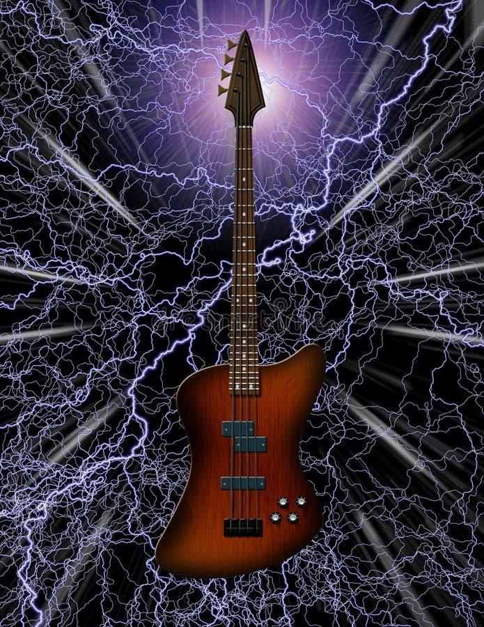 Chitarra bassa elettrica royalty illustrazione gratis