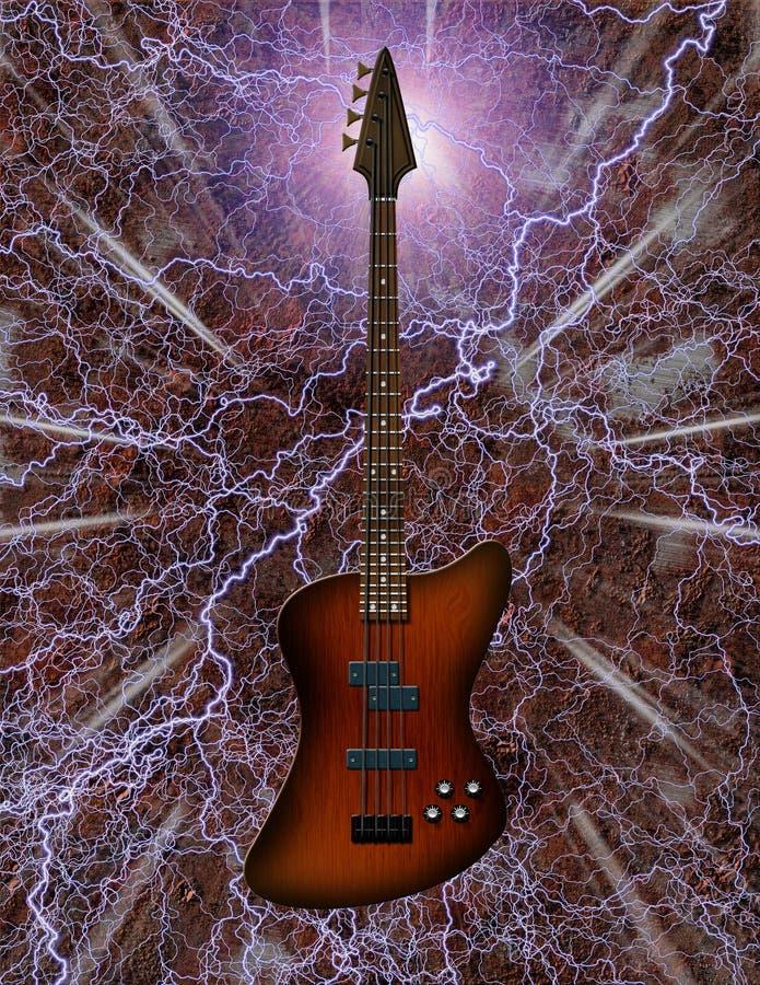 Chitarra bassa elettrica illustrazione vettoriale
