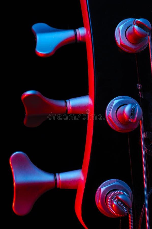 Chitarra bassa elettrica fotografia stock
