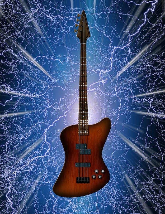 Chitarra bassa elettrica illustrazione di stock