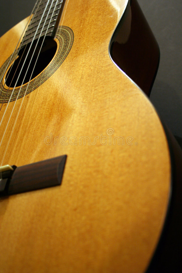Chitarra classica fotografie stock