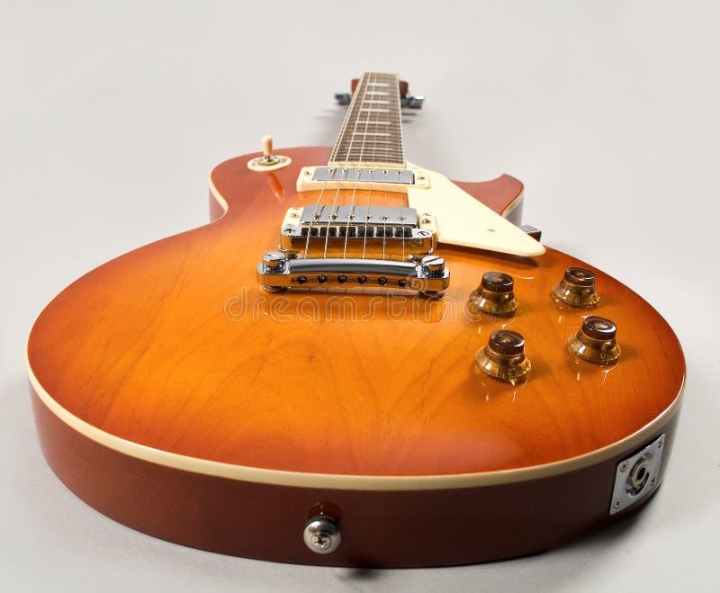 chitarra dell'arancio degli azzurri fotografie stock libere da diritti