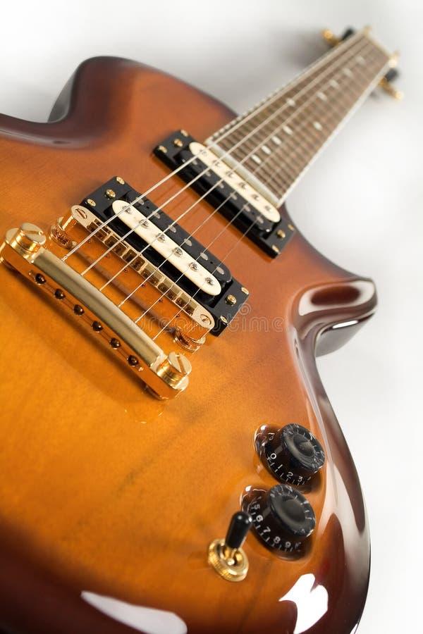 Chitarra dell'arancio degli azzurri fotografie stock