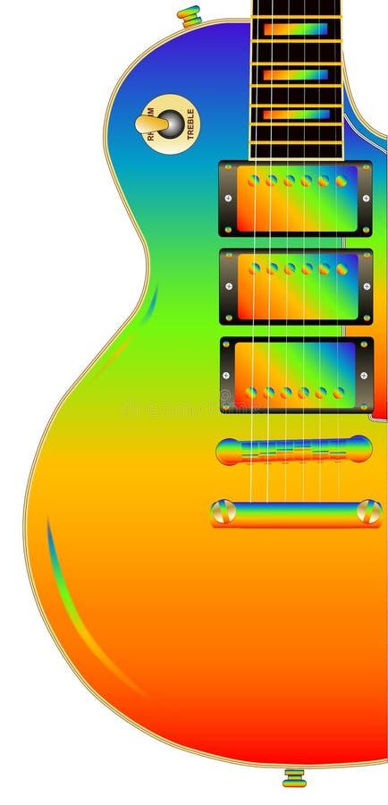 Chitarra dell'arcobaleno di LGBT illustrazione vettoriale