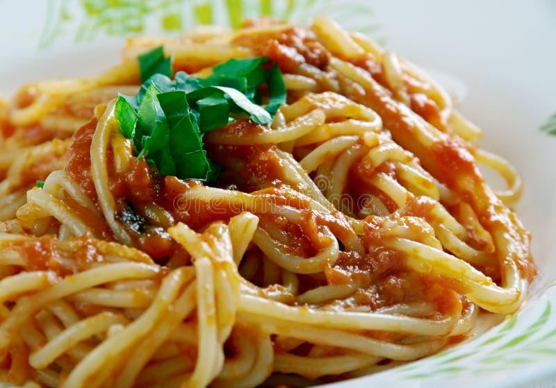 Chitarra di alla degli spaghetti fotografia stock libera da diritti