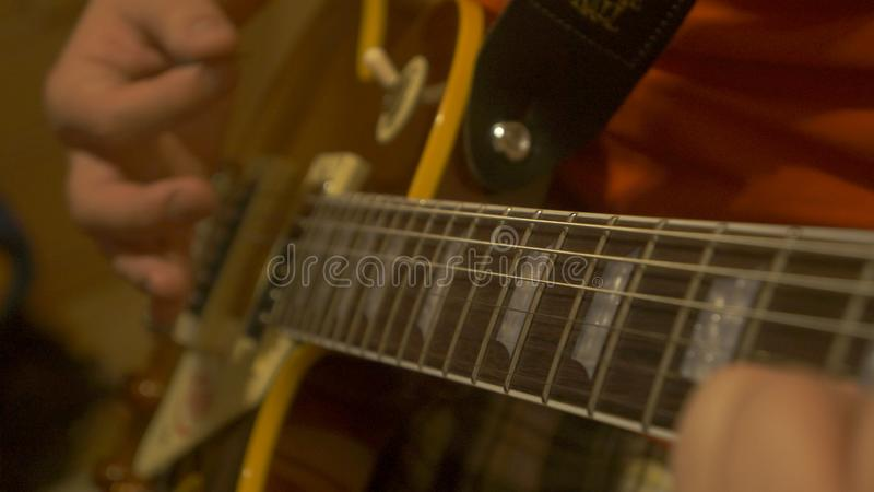 Chitarra di Gibson fotografia stock libera da diritti
