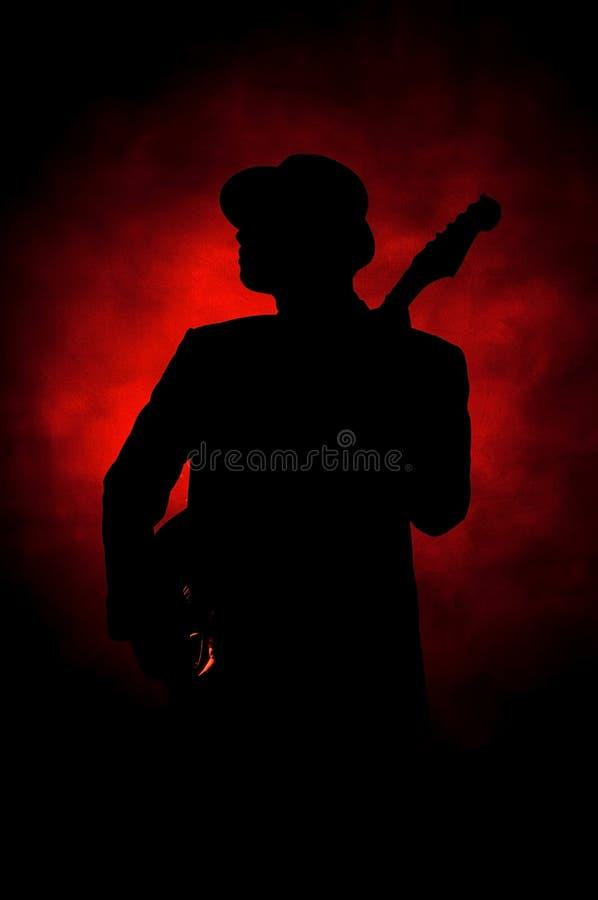 Chitarra di jazz fotografia stock libera da diritti