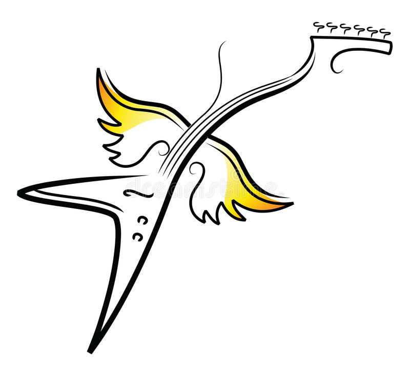 Chitarra di volo V royalty illustrazione gratis