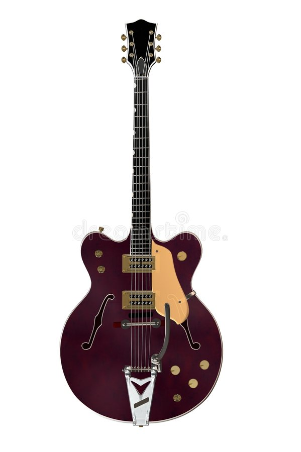 Chitarra elettrica 1 di Hollowbody illustrazione di stock