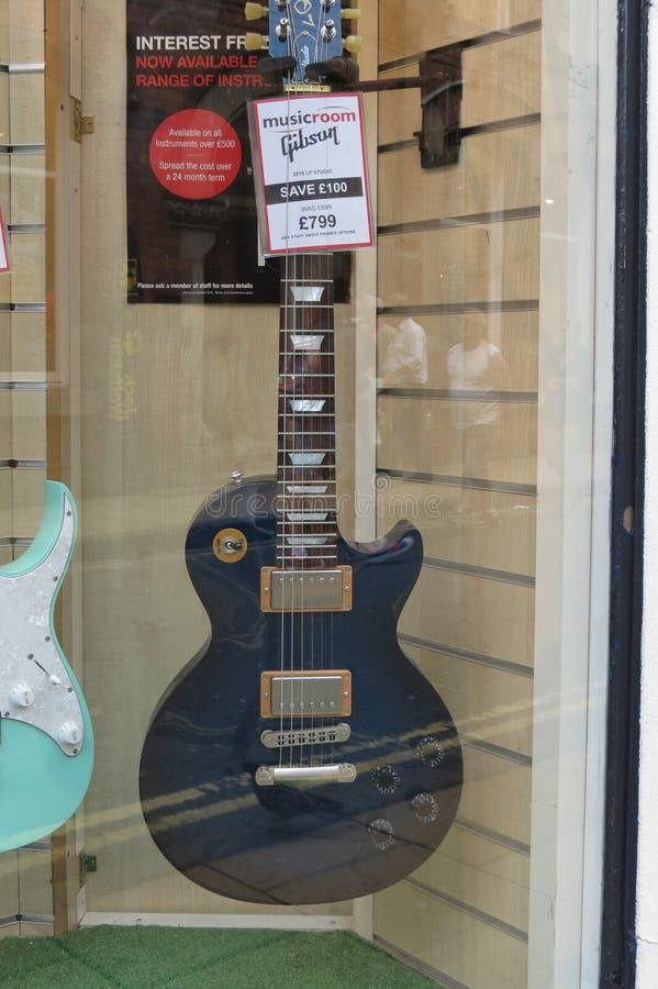 Chitarra elettrica di Gibson da vendere fotografia stock libera da diritti
