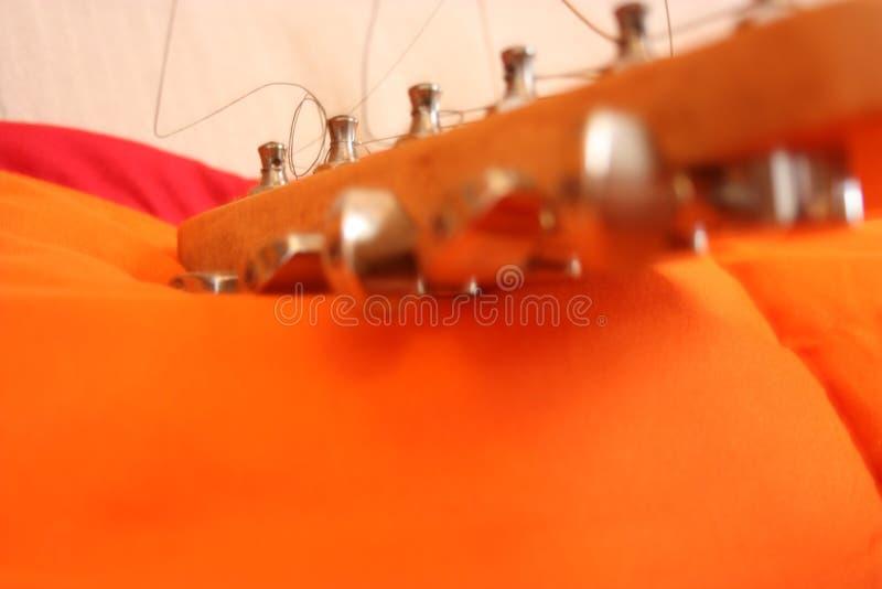 Chitarra elettrica, strumento musicale immagine stock