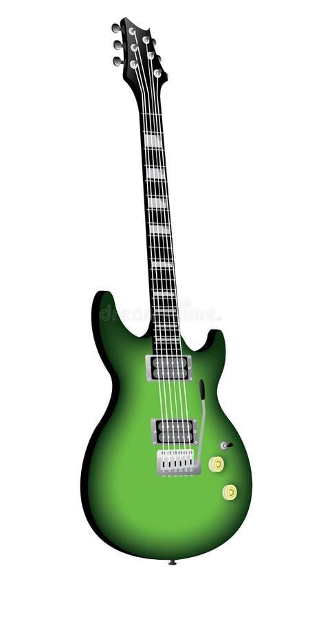 Chitarra elettrica verde fotografie stock libere da diritti