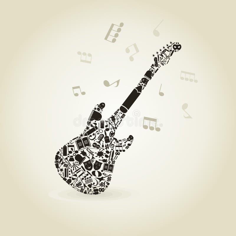 Arte una chitarra illustrazione vettoriale