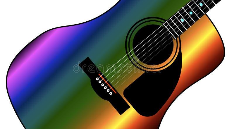 Chitarra occidentale dell'arcobaleno illustrazione vettoriale