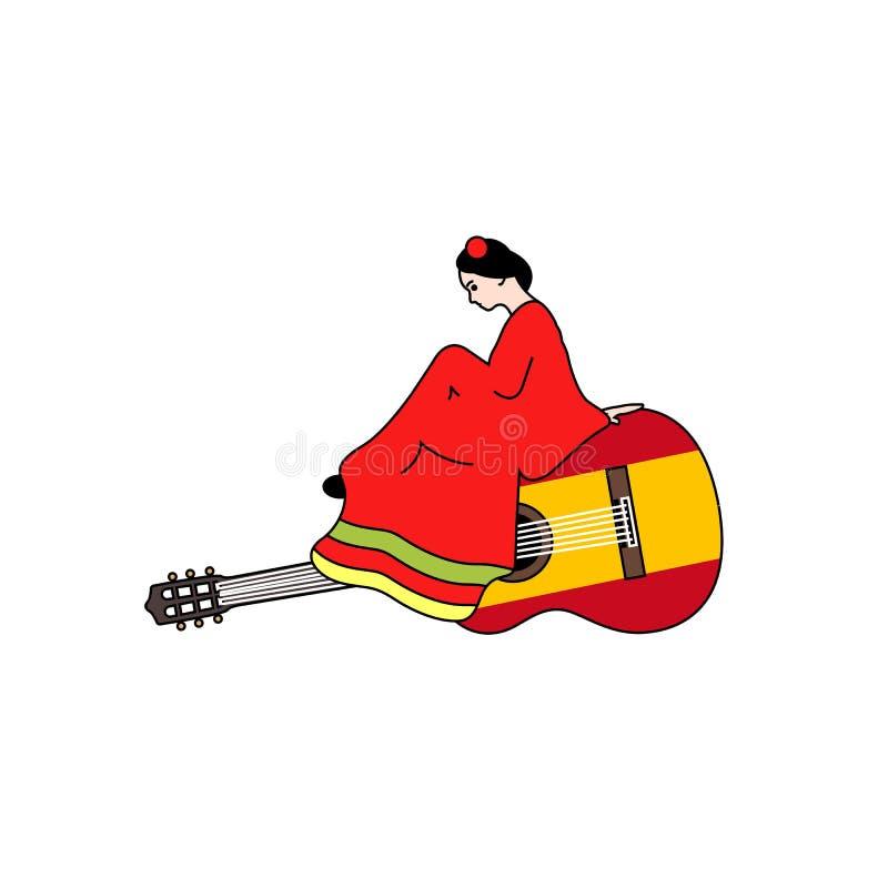 Chitarra spagnola illustrazione vettoriale