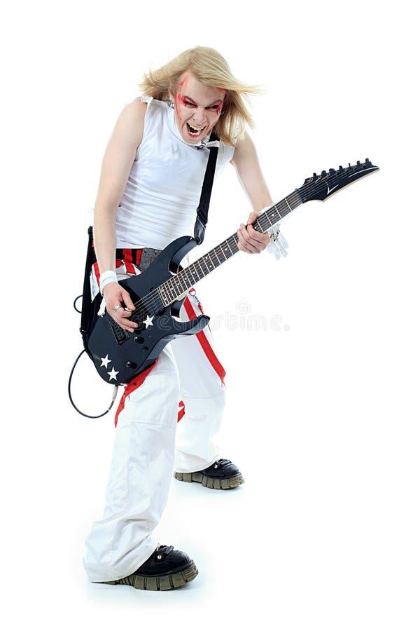 Chitarrista fotografie stock