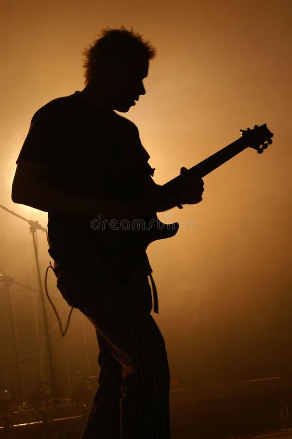 Chitarrista della roccia fotografia stock
