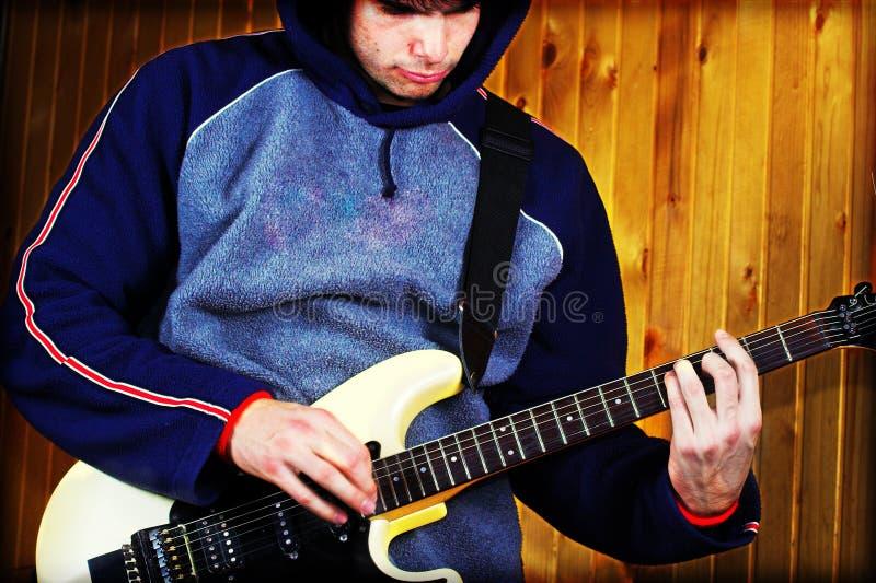 Chitarrista - musica rock immagini stock