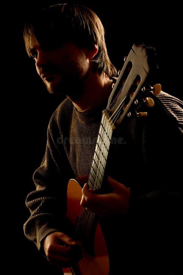 Chitarrista. Partito di concerto fotografia stock
