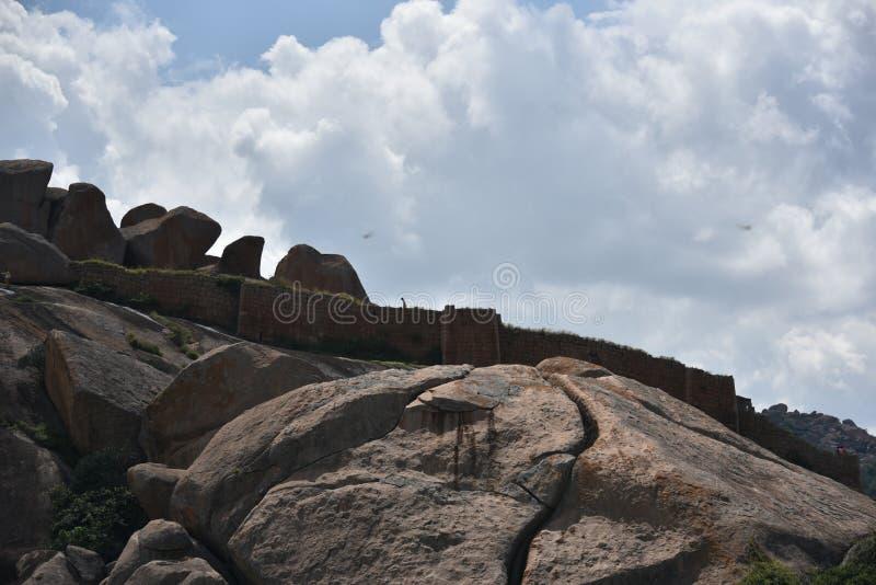 Chitradurga fortu zabytki i ruiny, Karnataka zdjęcie stock