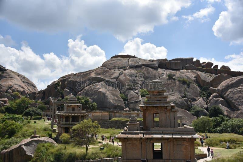 Chitradurga fortu zabytki i ruiny, Karnataka obraz stock