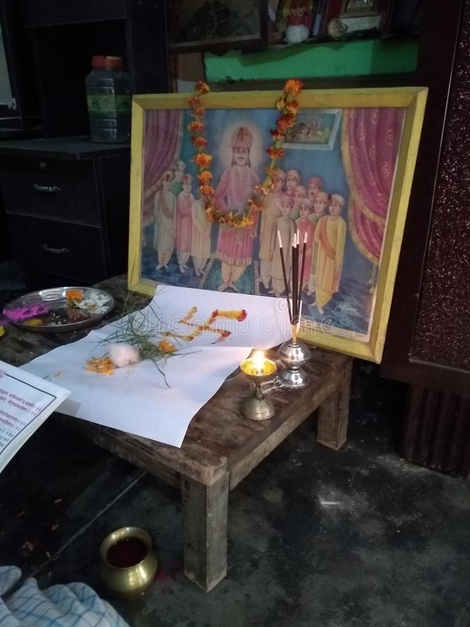Chitragupta Maharaj ji - boga obrazek obraz royalty free