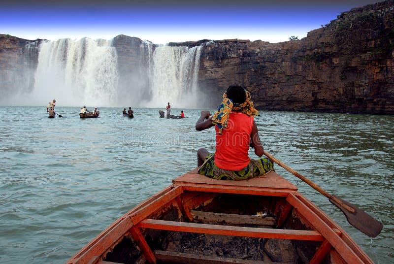 Chitrakoot Wasserfälle lizenzfreies stockbild