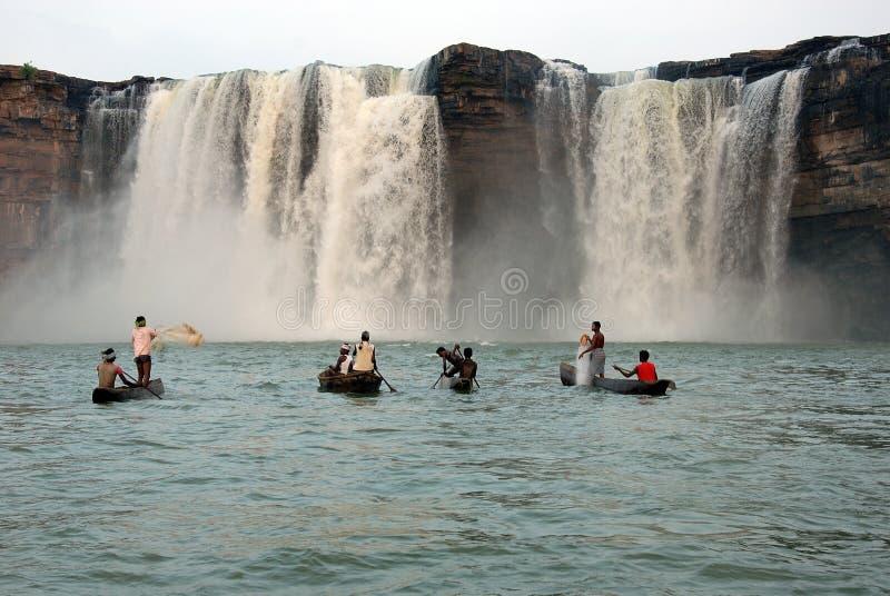 Chitrakoot Wasserfälle lizenzfreie stockbilder