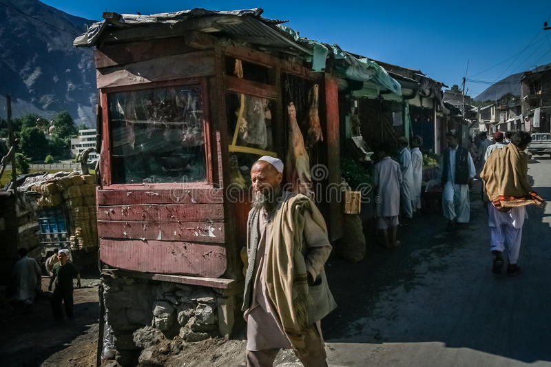 Chitral street scene royalty free stock photography
