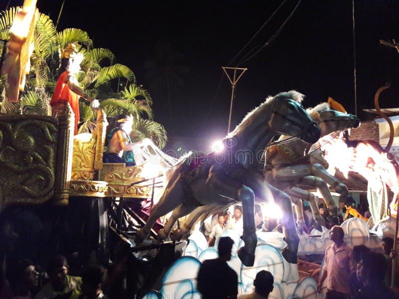Chitrarath raath του προτύπου krishna shree στοκ εικόνες