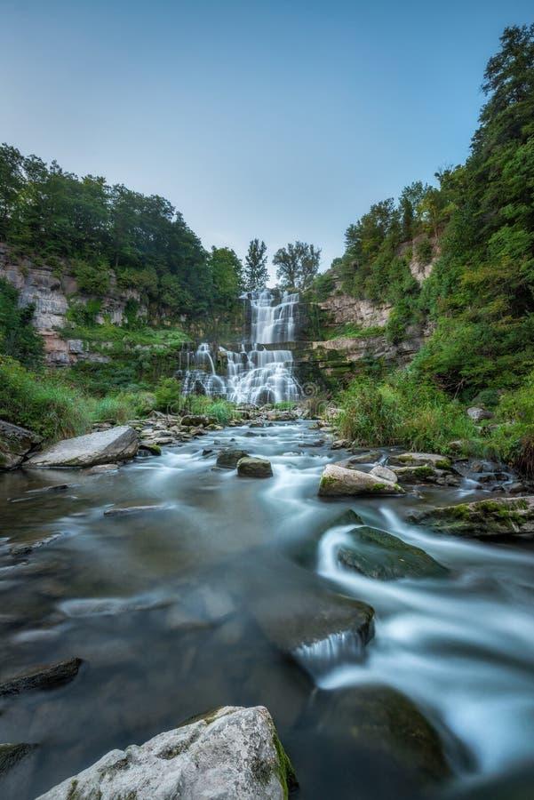 Chittenango cai do norte do estado em New York foto de stock royalty free