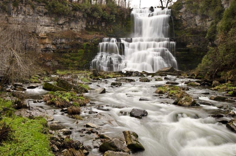 Chittenango cai parque de estado, New York fotografia de stock