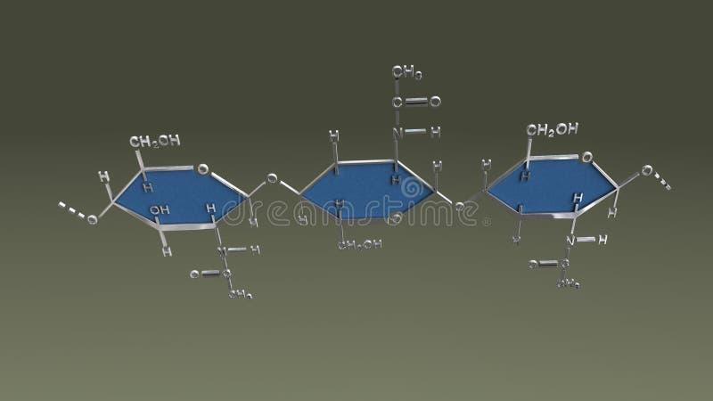 Chitynowa struktura ilustracji