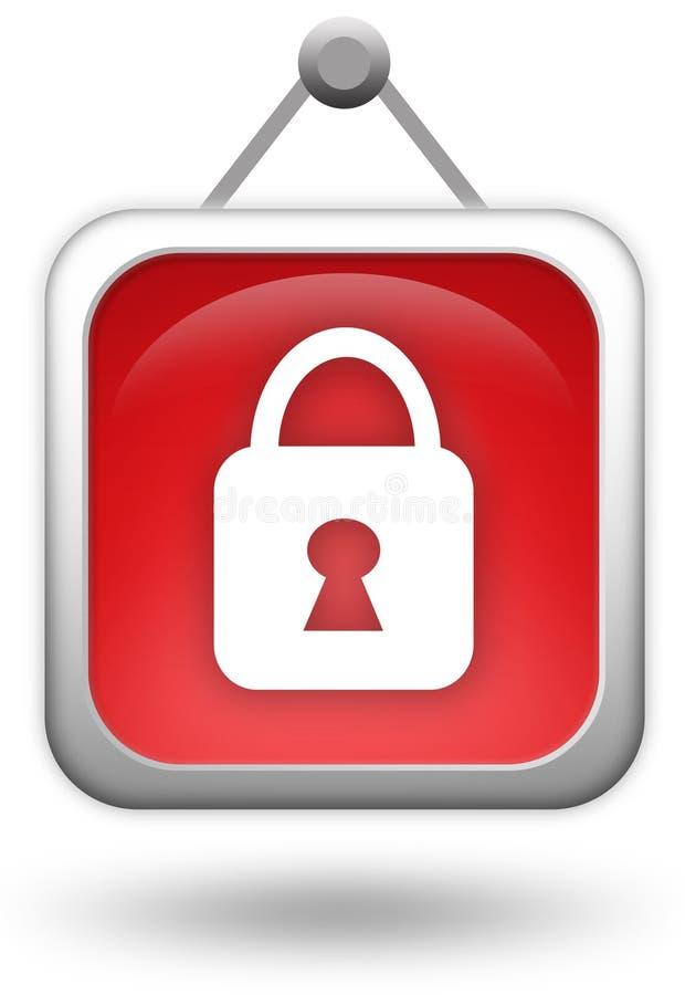 Chiuda l'icona a chiave royalty illustrazione gratis