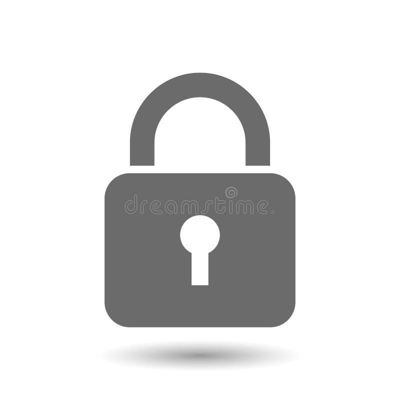 Chiuda l'icona a chiave illustrazione di stock