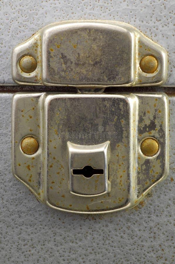 Chiuda la serratura a chiave della casella immagini stock