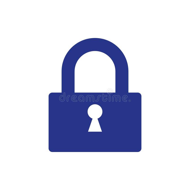Chiuda lo stile a chiave piano di progettazione dell'illustrazione di riserva di vettore dell'icona illustrazione di stock