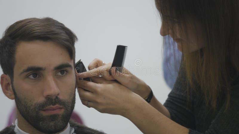 Chiuda su Barber Haircut Clipper immagini stock libere da diritti