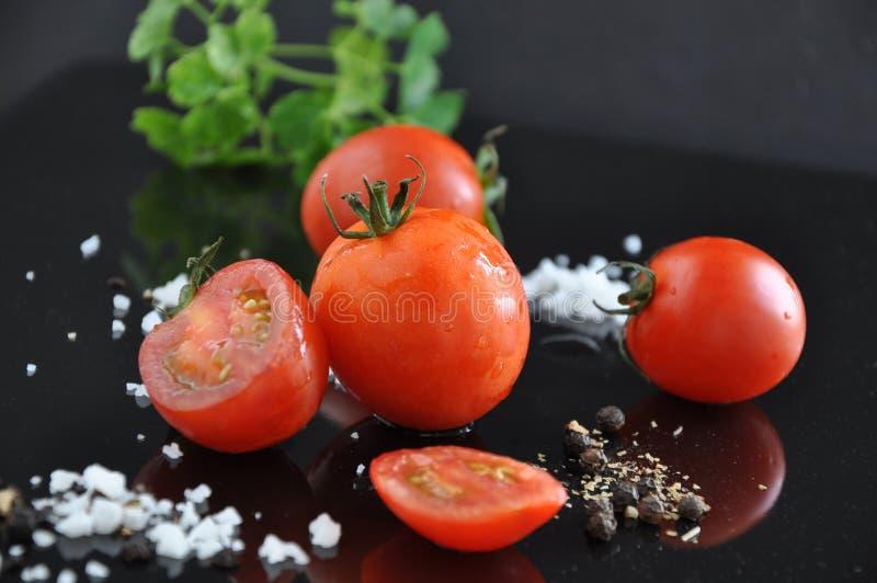 Chiuda su Cherry Tomato fresco immagine stock libera da diritti