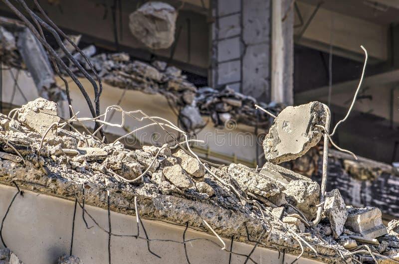 Chiuda su del cantiere di demolizione fotografia stock libera da diritti