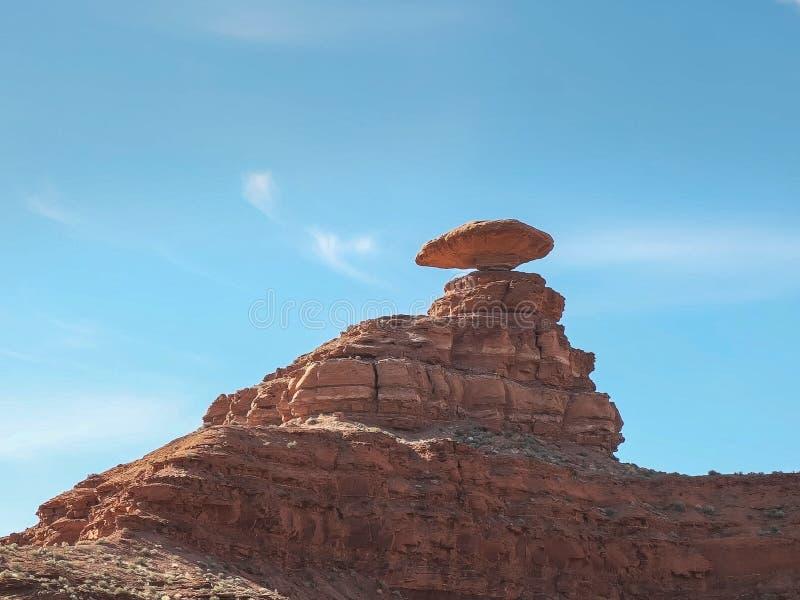 Chiuda su del cappello messicano di formazione rocciosa, Utah immagini stock