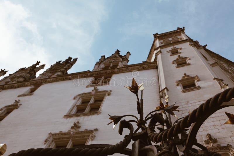 Chiuda su del castello dei duchi del DES Ducs de la Bretagna di Brittany Chateau a Nantes, Francia fotografie stock libere da diritti