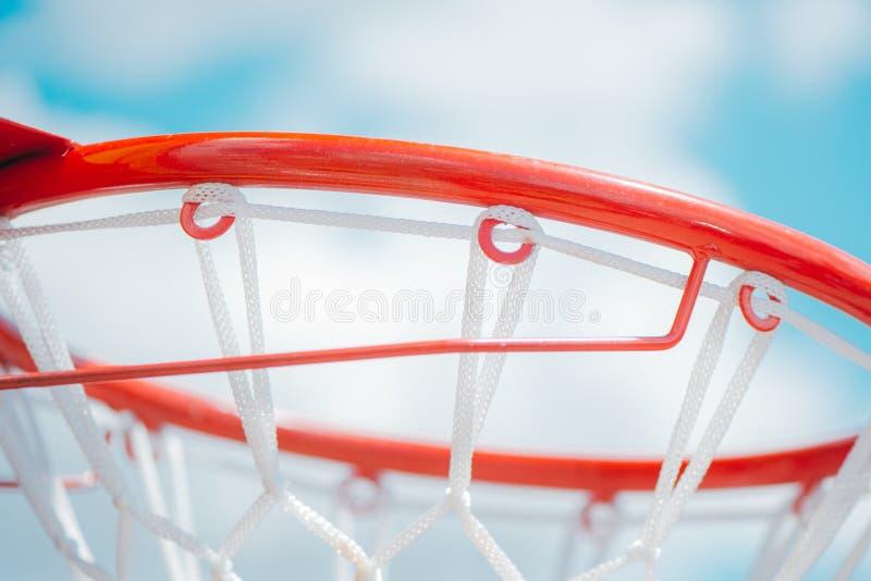 Chiuda su del cerchio di pallacanestro nuovissimo fotografie stock libere da diritti
